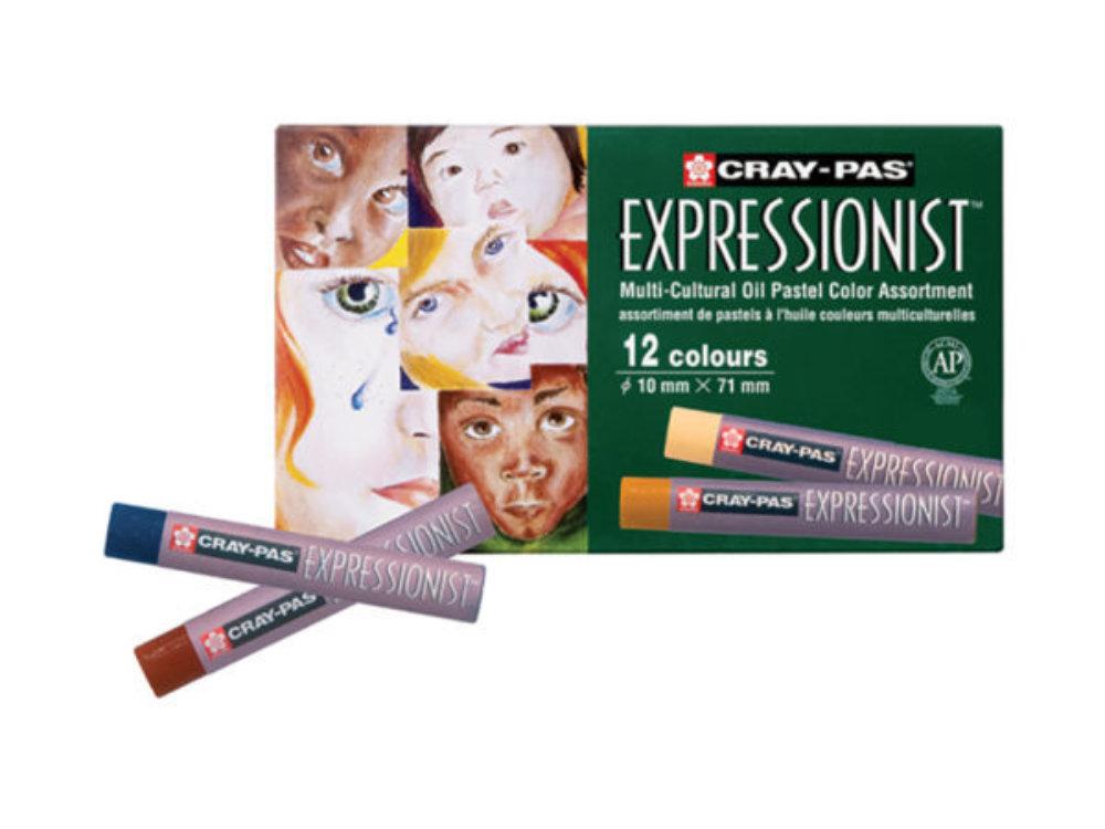 Sakura Cray-Pas Expressionist Oljepastell Multic 12Sett