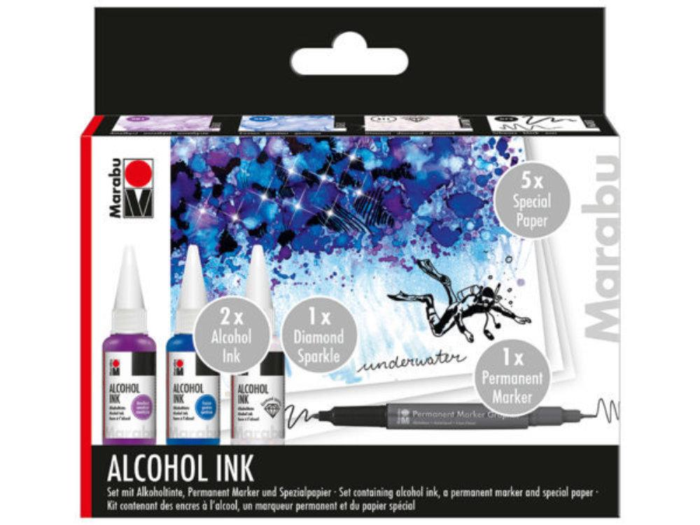 Marabu Alcohol Ink Sett – UNDERWATER